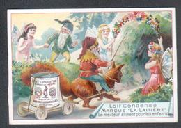 Chromo La Laitiere, Gnomes Et Fees, Attelage Avec Ecureuil - Trade Cards