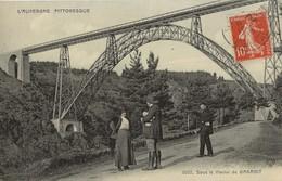 SOUS LE VIADUC DE GARABIT 1913 - Francia