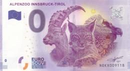 Autriche - Billet Touristique / Souvenir 0 €uro - 2017 / ALPENZOO INNSBRUCK - TIROL . - EURO