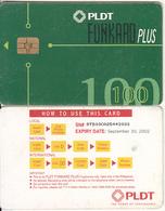 PHILIPPINES(chip) - PLDT Telecard 100 Pesos, Chip GEM3.3, Exp.date 30/09/02, Used - Philippines