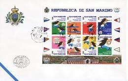 """2001 - FDC """" GIOCHI PICCOLI STATI D' EUROPA  """" SAN MARINO VEDI++++ - FDC"""
