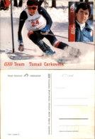 TOMAZ CERKOVNIK SKIING POSTCARD - Wintersport
