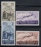 Africa Orientale Italiana 1940 Sass. A16-A19 Nuovo ** 80% Posta Aerea Mostra D'Oltremare - Africa Orientale Italiana
