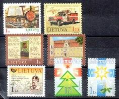 Lituania Series Completas Nº Yvert 687-694-697/98-699-700/01 ** Valor Catálogo 8.70€ - Lituania