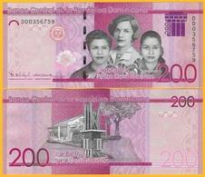 Dominican Republic 200 Pesos Dominicanos P-191 2017(2019) UNC - Dominicaanse Republiek