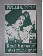 CP PUB MADHA Vin Tonique - René Hanhart Thann Dessin HANSI - Hansi