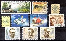 Lituania Series Completas Nº Yvert 769/70-774/75-771-772/73-776-778/80 ** Nº 779 Falta Diente Valor Catálogo 8.70€ - Lituania