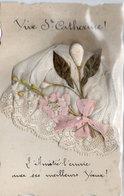 Vive Sainte CATHERINE  - Bonnet En Tissus Et Dentelle + Poeme -   (1795 ASO) - Vornamen