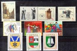 Lituania Series Completas Nº Yvert 781-784/85-786-787/88-789/91 ** Valor Catálogo 8.4€ - Lituania