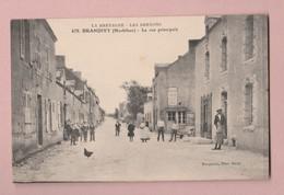CPA 56 Brandivy - Rue Principale Animée N.c. Photo Bocquenay Auray #478 - Sonstige Gemeinden