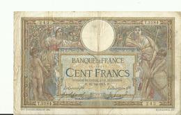 Billet De Cent Francs   1915 BON ETAT - 1871-1952 Antichi Franchi Circolanti Nel XX Secolo