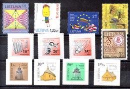 Lituania Series Completas Nº Yvert 914/17-978-989-991-999-1002/04-1009 ** Valor Catálogo 12.3€ - Lituania