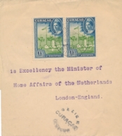 Curacao - 1945 -  2x 1,5 Cent Eilanden Op 2x Censored Wrapper Van Curacao Naar London / UK - Censuurstempel H2 - Grey - Niederländische Antillen, Curaçao, Aruba