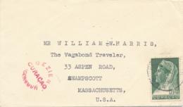 Curacao - 1941 -  12,5 Cent Wilhelmina Op Censored Cover Van St Eustatius Naar Swampscott USA - Censuurstempel H2 - Red - Niederländische Antillen, Curaçao, Aruba