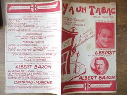Y A UN TABAC  PAROLES DE ALBERT BARON MUSIQUE DE EMILE CARLISLE - Spartiti