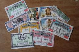 Serie  10  Loterie Nationale  1932 1942 - Loterijbiljetten