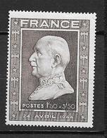 France:n°606** 88è Ann Du Maréchal Pétain - Nuevos
