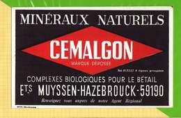 Buvard & Blotting Paper  : Mineraux Naturels CEMALGON  Pour Le Betail Ets MUYSSEN HAZEBROUCK - Agriculture