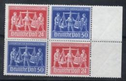 Zone Americane, Britanniche E Russe 1948 Mi. 969-970 Nuovo ** 40% Quartina Fiera Di Hannover, Cultura - Zona AAS