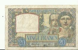 Billet De VINGT  SB 19.12.1940 Francs   1928  BON ETAT - 1871-1952 Circulated During XXth