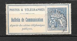 France:Timbres-Téléphone N°24 (trés Beau) - Télégraphes Et Téléphones