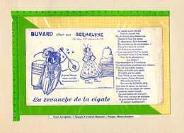 Buvard & Blotting Paper : Offert Par GERMALYNE  La Revanche De La Cigale  La Fontaine - Agriculture