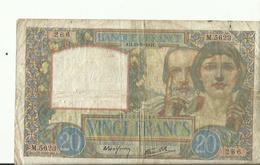 Billet De VINGT FRANCS AG 18.9.1941    BON ETAT - 1871-1952 Antichi Franchi Circolanti Nel XX Secolo