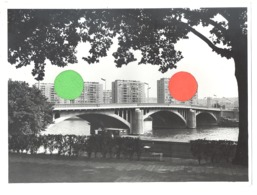 Photo ( 18 X 24 Cm ) Pont ATLAS Et Quartier De Droixhe - 195...196...?, Péniche, Bateau,...  (b272) - Lugares