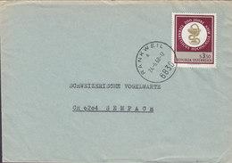 Austria FRANKWEIL 1968 Cover Brief Schweizerische Vogelwarte SEMPACH Tierarzliche Hochschule Animal Doctor High School - 1945-.... 2. Republik