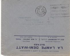 Paris 108 , Flamme PP ,chéques Postaux,demandez L'ouverture....lettre De 1927 - Marcophilie (Lettres)