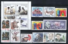 Svezia 1994-95 Mi. 1845-1861 Usato 100% Uccelli, Religione, Animali, Bengtsson - Usati