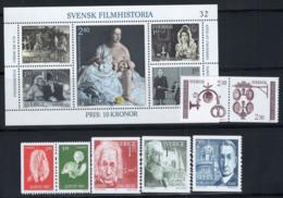 Svezia 1981 Mi. 1166-1177 Nuovo ** 100% Film, Donna, Nobel, Uccelli - Nuovi
