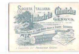 10556 03 SOCIETA ITALIANA INDUSTRIE CHIMICHE GENOVA DISTILLAZIONE LEGNO S.M. TARO BOSCO REGIO DINAMI BAGNASCO - 1900-44 Victor Emmanuel III