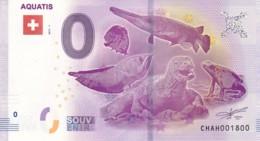 Suisse - Billet Touristique / Souvenir 0 €uro - 2017 / AQUATIS . - EURO