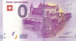 Suisse - Billet Touristique / Souvenir 0 €uro - 2017 /  SWISS VAPEUR PARC . - EURO
