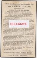 """DOODSPRENTJE HUYGHE CAMIEL ECHTGENOOT GOMBEIR WESTVLETEREN 1884 - 1949  """"ANTI-KOPIE"""" - Devotion Images"""
