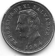 * El Salvador 5 Centavos  1984 Km 149a Bu - Salvador