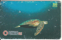 PHILIPPINES(chip) - Turtle, Chip CHT10, Exp.date 31/12/00, Used - Philippines