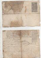 Loire Chuyer Ecotay 2 Quarts De Papier 1693 Tachés - Manuscripts
