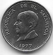 * El Salvador 25 Centavos  1977 Km 139  Bu - El Salvador