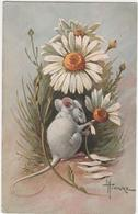 CPA - Carte  Illustrateur Hingre - Souris & Marguerite - Animales