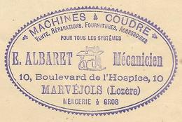 Lozère - Marvejols - Albaret - Livret Pour Machine à Coudre Régia Et Tatiana - Vieux Papiers