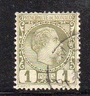 Y306 - MONACO 1885 , Unificato N. 1  Usato - Usati