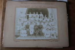 2 Photographies Militaires  Ecole Normale  De Gymnastique   Et D'escrime De Joinville Le Pont Vers 1900 Animation - Guerra, Militares