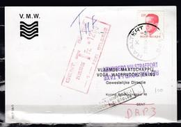 Postkaart Van Haaltert Naar Gent Met Getaksseerd In Gent V.M.W. - Belgique