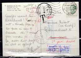 Postkaart Van Knokke-Heist 2 Naar Gent Getaksseerd In Gent - Belgique