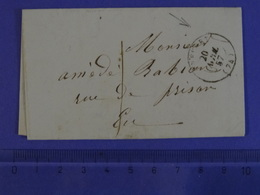 LE TREPORT (SEINE-MARITIME) T15 Du 20.4.1857 Pour Eu Recette Associée - Marcophilie (Lettres)