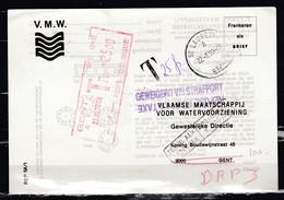 Postkaart Van St Laureins Naar Gent Getaksseerd In Gent V.M.W. - Belgique