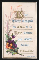 PLECHTIGE EERSTE COMMUNIE  CHARLES DE LEU 1884 COLLEGE STE BARBE   2 SCANS - Images Religieuses
