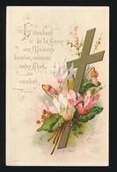 PLECHTIGE EERSTE COMMUNIE  DE ANNA DEBEIL EN L'EGLISE DE ST.PIERRE  18 MARS 1888   2 SCANS - Devotieprenten
